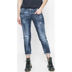 Diesel - Jeansy Belthy-ankle. Niebieskie jeansy damskie z wysokim stanem Diesel. W wyprzedaży za 539,90 zł.