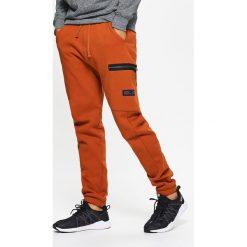 Odzież męska: Dresowe joggery z kieszeniami - Pomarańczowy