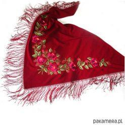 Apaszki damskie: Chusta_Burgund z Różami (Embroidered Art)