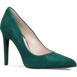 Czółenka INGRID. Niebieskie buty ślubne damskie Gino Rossi, ze skóry, na wysokim obcasie, na szpilce. Za 299,90 zł.
