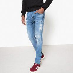 Jeansy slim destroy. Szare jeansy męskie slim La Redoute Collections. Za 176,36 zł.
