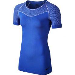 Bluzki sportowe damskie: koszulka termoaktywna damska NIKE PRO HYPERCOOL LIMITLESS SHORT SLEEVE TOP / 725647-480 – NIKE PRO HYPERCOOL LIMITLESS SHORT SLEEVE TOP