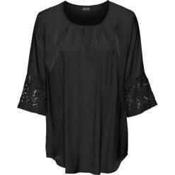 Bluzki asymetryczne: Bluzka z koronką bonprix czarny