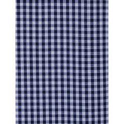 KOSZULA MĘSKA W KRATĘ Z DŁUGIM RĘKAWEM K319 - GRANATOWA. Niebieskie koszule męskie na spinki Ombre Clothing, m, z bawełny, z kontrastowym kołnierzykiem, z długim rękawem. Za 59,00 zł.