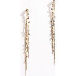 Długie kolczyki z kryształkami - Złoty. Żółte kolczyki damskie Mohito, złote. Za 29,99 zł.
