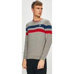 Guess Jeans - Sweter. Szare swetry klasyczne męskie marki Guess Jeans, l, z aplikacjami, z bawełny. Za 319,90 zł.