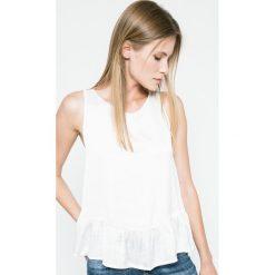 Answear - Bluzka Blossom Mood. Szare bluzki asymetryczne ANSWEAR, m, z poliesteru, casualowe, z okrągłym kołnierzem. W wyprzedaży za 49,90 zł.