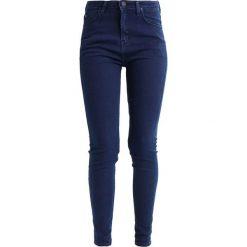 Lee SCARLETT HIGH Jeans Skinny Fit dark blue. Niebieskie jeansy damskie marki Lee, z bawełny. W wyprzedaży za 287,10 zł.