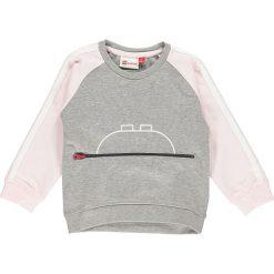 """Bluza """"Summer 603"""" w kolorze szaro-jasnoróżowym. Szare bluzy dziewczęce marki LEGO Wear, z aplikacjami. W wyprzedaży za 72,95 zł."""