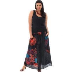 Odzież damska: Spódnica w kolorze czarno-czerwono-turkusowym