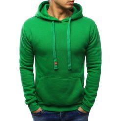 Bluzy męskie: Bluza męska z kapturem zielona (bx2030)