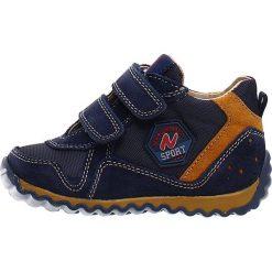 """Sneakersy """"Ivan"""" w kolorze granatowym. Niebieskie trampki chłopięce Naturino, z aplikacjami, z materiału. W wyprzedaży za 172,95 zł."""