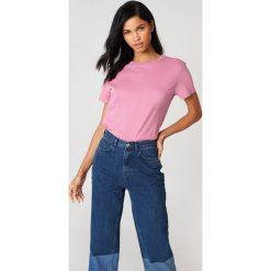 NA-KD Basic T-shirt oversize - Pink. Różowe t-shirty damskie marki NA-KD Basic, z bawełny. W wyprzedaży za 21,18 zł.