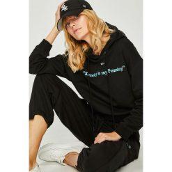 Miss Sixty - Bluza. Czarne bluzy z kapturem damskie marki Miss Sixty, l, z aplikacjami, z bawełny. W wyprzedaży za 339,90 zł.