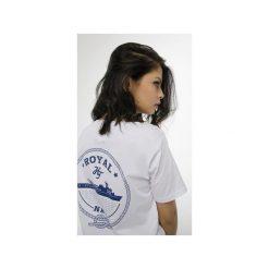 T-shirt Royal Navy. Białe t-shirty damskie Harp Team, l, z nadrukiem, z materiału. Za 49,00 zł.