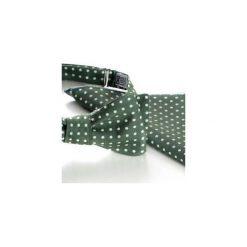 Komplet Mucha wiązana REUS zielony +poszetka +spinki do mankietów. Zielone muchy męskie HisOutfit, z materiału, wizytowe. Za 149,00 zł.