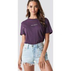 T-shirty damskie: NA-KD Trend T-shirt oversize Bad Habits - Purple