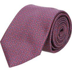 Krawat makrowzór bordo 102. Szare krawaty męskie Recman. Za 49,00 zł.