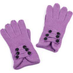 Rękawiczki damskie: Art of Polo Rękawiczki damskie sześć guziczków fioletowe (rk2606)
