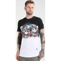 T-shirty męskie z nadrukiem: Religion SKULLY PARK TEE Tshirt z nadrukiem white