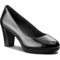 Półbuty TAMARIS - 1-22438-21 Black Leather 003. Czarne creepersy damskie Tamaris, z materiału, na obcasie. Za 229,90 zł.