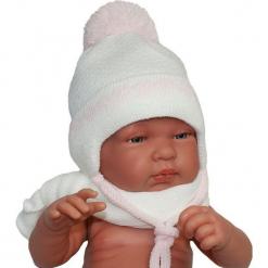 Czapka niemowlęca z szalikiem CZ+S 006E. Szare czapeczki niemowlęce marki Proman. Za 38,76 zł.