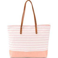 Shopper bag damskie: Torba shopper w marynarskim stylu bonprix bladoróżowy – kremowy