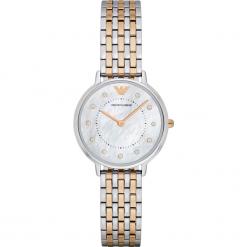 Zegarek EMPORIO ARMANI - Kappa AR2508  2T Silver/Rose/Silver. Szare zegarki damskie marki Emporio Armani, l, z nadrukiem, z bawełny, z okrągłym kołnierzem. Za 1149,00 zł.