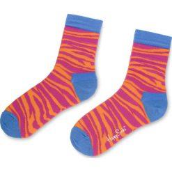 Skarpety Wysokie Damskie HAPPY SOCKS - ZEB01-3000 Kolorowy Różowy. Czerwone skarpetki damskie Happy Socks, w kolorowe wzory, z bawełny. Za 34,90 zł.