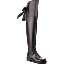 Muszkieterki EVA MINGE - Albacete 4E 18JS1372573EF  601. Czarne buty zimowe damskie Eva Minge, z materiału, przed kolano, na wysokim obcasie. W wyprzedaży za 659,00 zł.