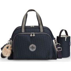 """Torba """"Camama"""" w kolorze granatowym do przewijania - 45 x 24 x 15 cm. Niebieskie torebki klasyczne damskie Kipling, w paski, z materiału. W wyprzedaży za 215,95 zł."""