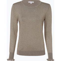 Marie Lund - Sweter damski, beżowy. Brązowe swetry klasyczne damskie Marie Lund, m, z dzianiny, z falbankami. Za 129,95 zł.