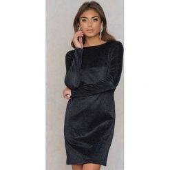Sukienki: NA-KD Party Brokatowa sukienka z okrągłym dekoltem – Black