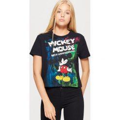 Bluzki, topy, tuniki: Koszulka mickey mouse - Czarny