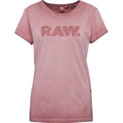 G-Star - T-shirt damski – Epzin, lila. Różowe t-shirty damskie G-Star, m, z nadrukiem. Za 129,95 zł.