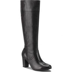 Kozaki CAPRICE - 9-25510-21 Black Nappa 022. Czarne buty zimowe damskie Caprice, z materiału, na obcasie. Za 399,90 zł.