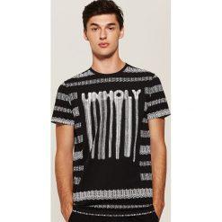 T-shirt z nadrukiem - Czarny. Czarne t-shirty męskie z nadrukiem marki B'TWIN, na jesień, m, z elastanu. Za 49,99 zł.