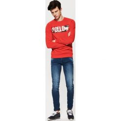 Bluza z nadrukiem - Czerwony. Czerwone bluzy męskie rozpinane marki House, l, z nadrukiem. Za 79,99 zł.