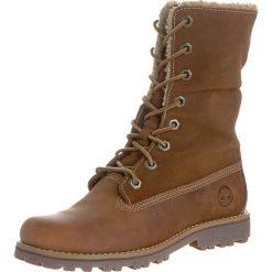 Timberland AUTHENTICS 6 INCH Śniegowce brown. Brązowe buty zimowe damskie marki Timberland, z gumy. W wyprzedaży za 213,95 zł.