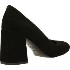 Czółenka HARUMI. Czarne buty ślubne damskie Gino Rossi, ze skóry, na wysokim obcasie. Za 224,95 zł.