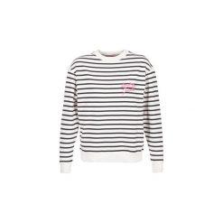 Bluzy Tommy Jeans  TJW CN HKNIT. Białe bluzy damskie marki Tommy Jeans, l, z jeansu. Za 319,20 zł.