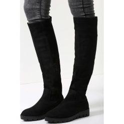 Czarne Kozaki Save The Last. Czarne buty zimowe damskie vices, na płaskiej podeszwie. Za 129,99 zł.
