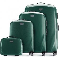 Zestaw walizek 56-3P-57K-85. Zielone walizki marki Wittchen, w paski, z gumy, duże. Za 851,88 zł.