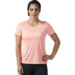 KOSZULKA - KR.REKAW SOUMEL RE SS TEE. Czerwone bluzki damskie marki Reebok, z krótkim rękawem. Za 51,99 zł.