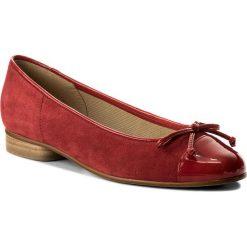 Baleriny GABOR - 85.102.10 Red. Czerwone baleriny damskie zamszowe Gabor. W wyprzedaży za 309,00 zł.