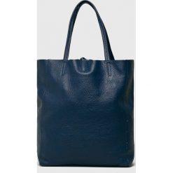 Answear - Torebka skórzana. Szare torebki klasyczne damskie ANSWEAR, z materiału, duże. W wyprzedaży za 179,90 zł.