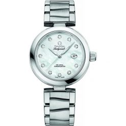 ZEGAREK OMEGA DE VILLE LADYMATIC 425.30.34.20.55.002. Białe zegarki damskie OMEGA, szklane. Za 29300,00 zł.