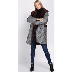 Brązowy Płaszcz Regularly. Czerwone płaszcze damskie zimowe marki Cropp, l. Za 204,99 zł.