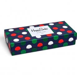 Happy Socks - Skarpetki Holiday Big Dot Gift Box (4-pak). Szare skarpetki damskie Happy Socks, z bawełny. W wyprzedaży za 99,90 zł.