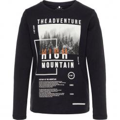 """Koszulka """"Simon"""" w kolorze czarnym. Białe t-shirty chłopięce z długim rękawem marki UP ALL NIGHT, z bawełny. W wyprzedaży za 32,95 zł."""